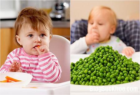 cho be an rau3 Quy tắc chế biến rau củ cho bé