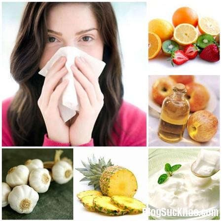 viemxoang 6 thực phẩm đẩy lùi triệu chứng kho chịu do viêm xoang