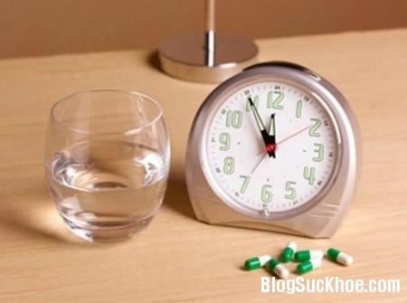 thuoc2 Thời điểm uống thuốc và bữa ăn