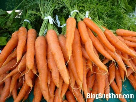 carot Da đổi màu vì thức ăn