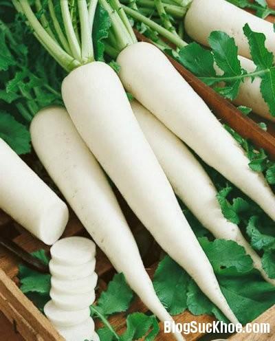cai Lợi ích sức khỏe từ củ cải trắng