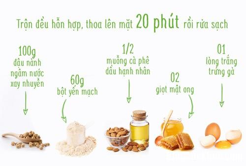 1360 3 công thức sở hữu làn da tươi trẻ, mịn màng với sữa đậu nành