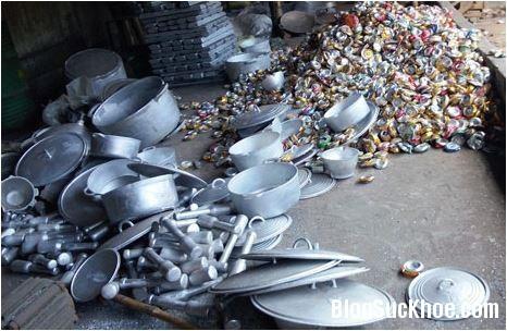 1104 Nguy hại sức khỏe từ đồ nhôm tái chế