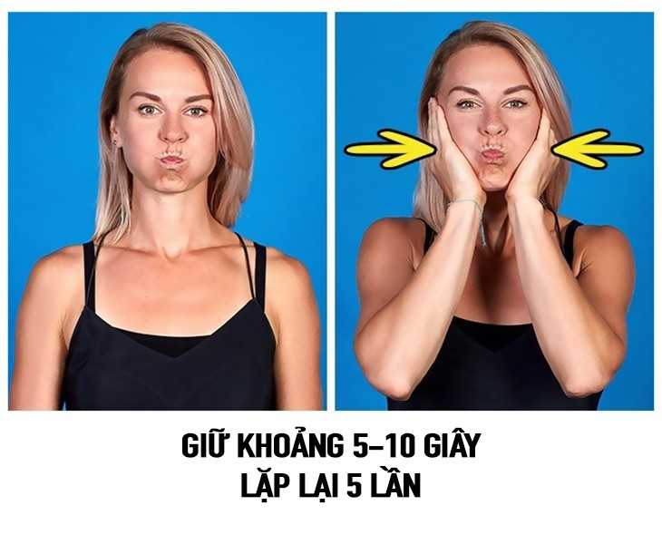 tap the duc 7 9 bài tập thể dục giúp khuôn mặt thon gọn và thanh thoát hơn